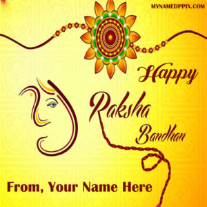Happy Raksha Bandhan Name Wishes Image Edit Online
