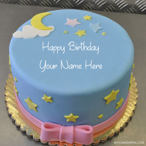 Tremendous Kids Birthday Wishes Moon Star Cute Cake Name Pics My Name Pix Cards Personalised Birthday Cards Cominlily Jamesorg