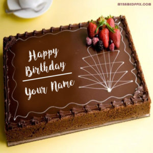 Name Wishes Chocolate Birthday Cake Pictures Edit Online