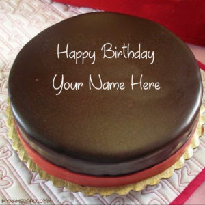 Online Birthday Chocolate Cake Wishes Name Write Pictures