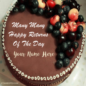 Special Chocolate Birthday Cake On Name Image DP