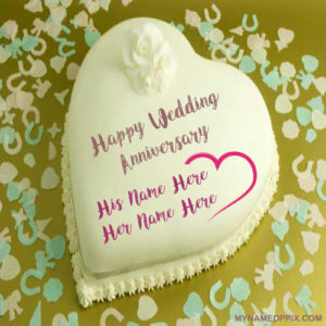 Special Couple Name Wedding Anniversary Love Cake Image