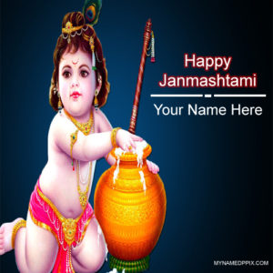 Special Name Wishes Janmashtami Card Pictures Edit