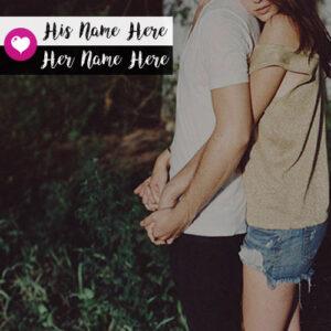 Write Couple Name Romantic Hug Lover Profile Set Pictures