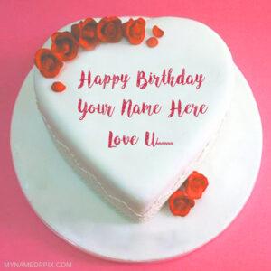 Write Name Lover Birthday Cake Love U Wishes Pics