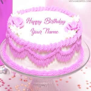 Write Sister Name Birthday Wishes Beautiful Rose Cake Pics