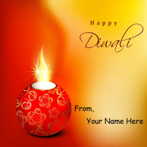Amazing Candles Diwali Wishes Picture Name Editing