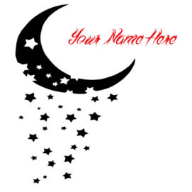 Beautiful Moon Stars Picture Name Profile Set Online Edit