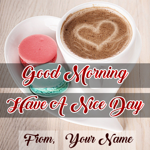 Friends Good Morning Wishes Name Wish Card Photo Edit