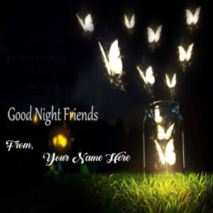 Friends Good Night Wishes Name Print Beautiful Pictures