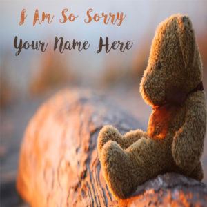 Sorry Teddy Greeting Cards Custom Name Pictures