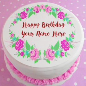 Write Name Beautiful Design Birthday Cake Image