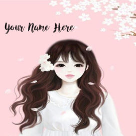 Write Name Beautiful Drawing Girl Profile Pictures Set Online
