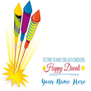 Friend Name Diwali Crackers Wish Card Pictures Free
