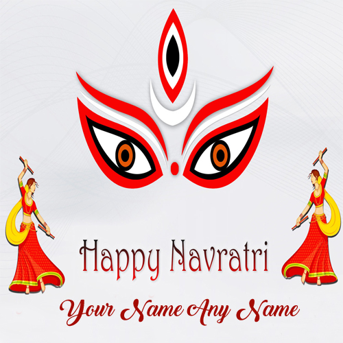 Special Name Wishes Navratri Greeting Card Image