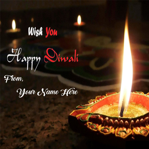 Wish U Happy Diwali E-Cards Name Wishes Picture Edit