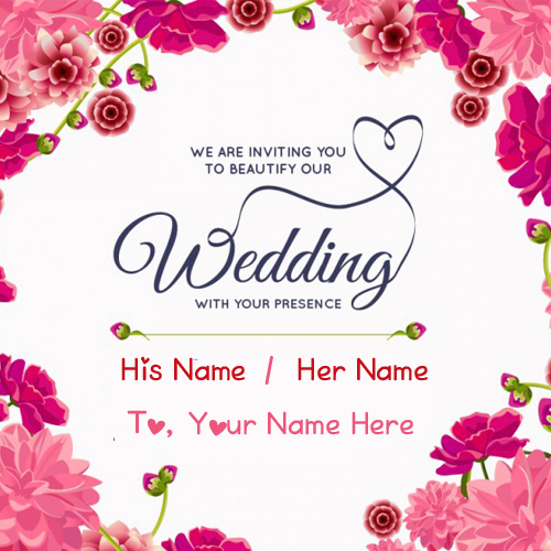 Wedding Inviting Name Greeting Card Editing Online My