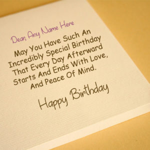 Friend Name Write Birthday Greeting Card Picture Online Editor