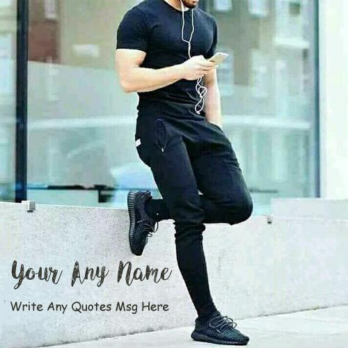 Write Name Quotes Msg Stylish Boy Profile Image Online