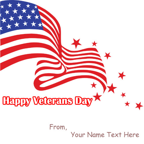 Write Name Wishes Happy Veterans Day Wallpapers Free