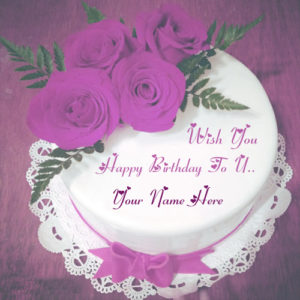 Best Name Write Happy Birthday Wishes Cake Image Sent Online