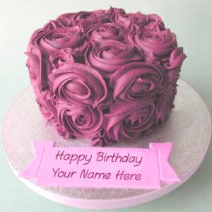 Flowers Birthday Cake Name Wishes Best Profile Status Whatsapp