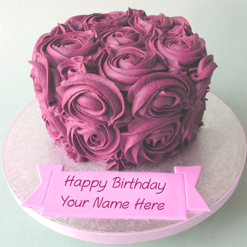 Flowers Birthday Cake Name Wishes Best Profile Status Whatsapp