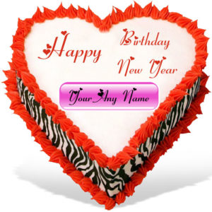 Happy New Year Birthday Wishes Beautiful Cake Image Online Edit