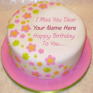 Miss U Dear Birthday Wishes Cake Name Write Pictures