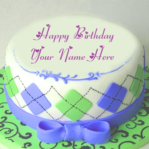 Awesome Design Birthday Cake Name Write Picture Sent Online