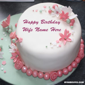 Beautiful Birthday Cake Wife Name Write Pictures Sent Status Images