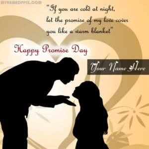 Beautiful Happy Promise Day Name Write Photo Edit Sent Online