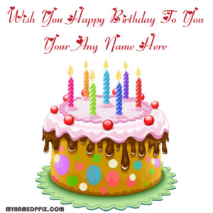 Candles Happy Birthday Cake With Name Whatsapp Status Pictures