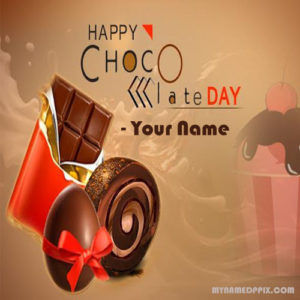 Happy Chocolate Day Greeting Card Write Name Picture Edit