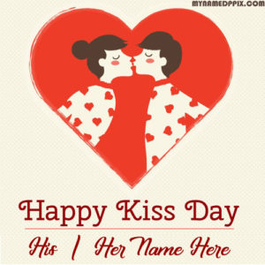 Happy Kiss Day Wishes Name Image Online Create Sent Free