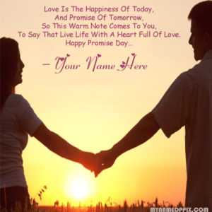 Happy Promise Day Love Promise Quotes Card Couple Image Sent