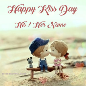 Name Write Happy Kiss Day Image Sent BF OR GF Name Wishes