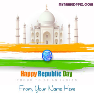 Online Name Photo Edit Indian Republic Day Wishes Image