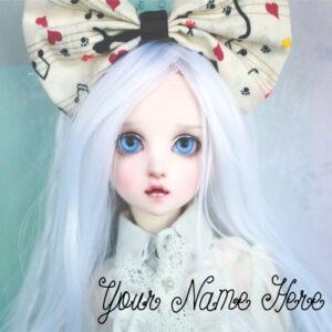 Print Name Beautiful Sweet Doll Profile Status Photo Editable