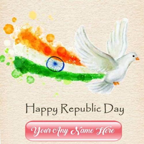 Print Name Happy Republic Day Image Sent Status Online Free