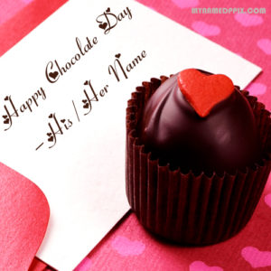Sweet Chocolate Day Wishes Girlfriend Name Wish Card Sent Online