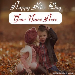 Write Name Happy Kiss Day Wishes Pictures Sent Lover Online Edit