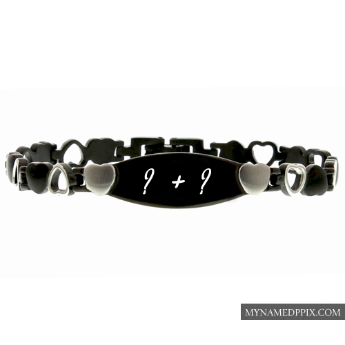 Couple Name Alphabet Letter Bracelet Profile Images