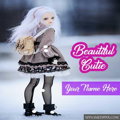 Cutie Barbie Doll Beautiful Name Write Profile Images Create