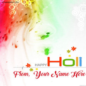 Sent Name Write Happy Holi Greeting Beautiful Cards Photos