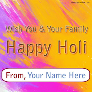 Write Name Happy Holi Greeting Cards Editing Pictures Online