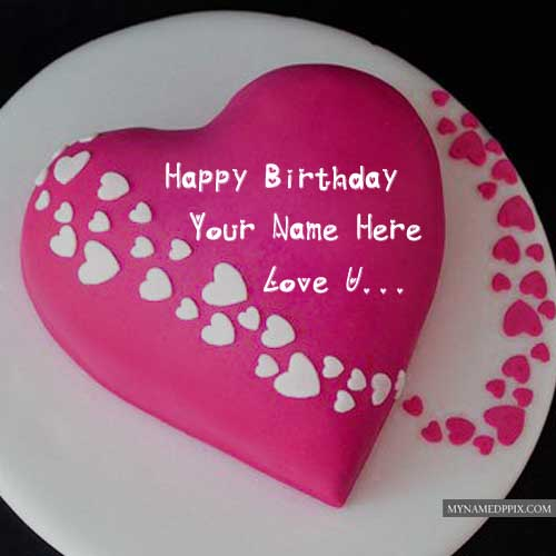 Birthday Romantic Love Cake Name Wishes Pictures Sent Online My Name Pix Cards