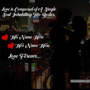 Couple Romantic Wallpaper Lover Name Profile Pictures Edit Online