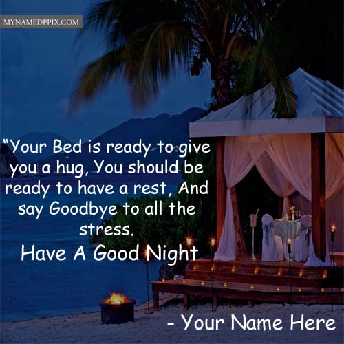 Good Night Image With Name Photos Send Online Pictures Edit