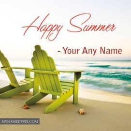 Happy Summer Image Send Write Name Photo Edit Online